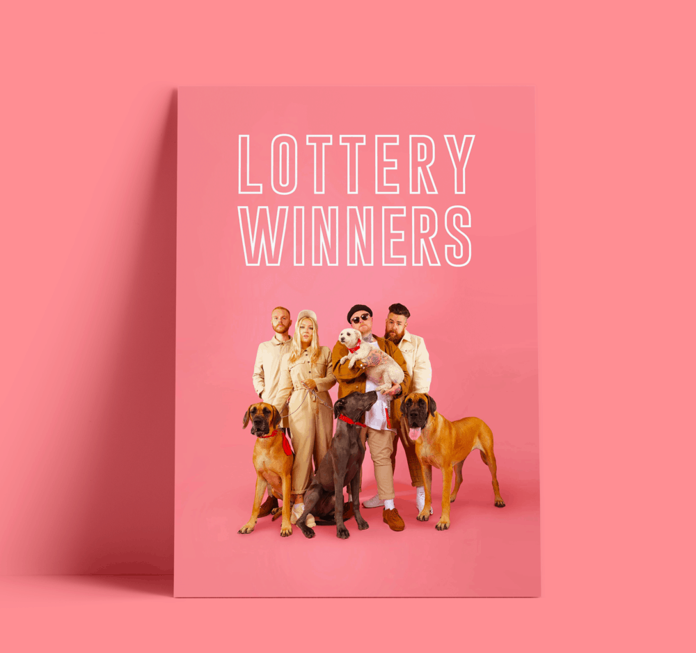 Buy Online The Lottery Winners - A3 Poster (Signed)