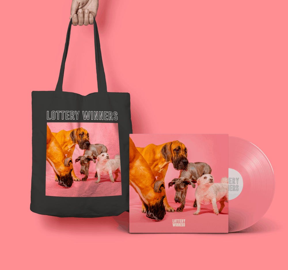 Buy Online The Lottery Winners - Lottery Winners Pink Vinyl (Signed) + Tote Bag