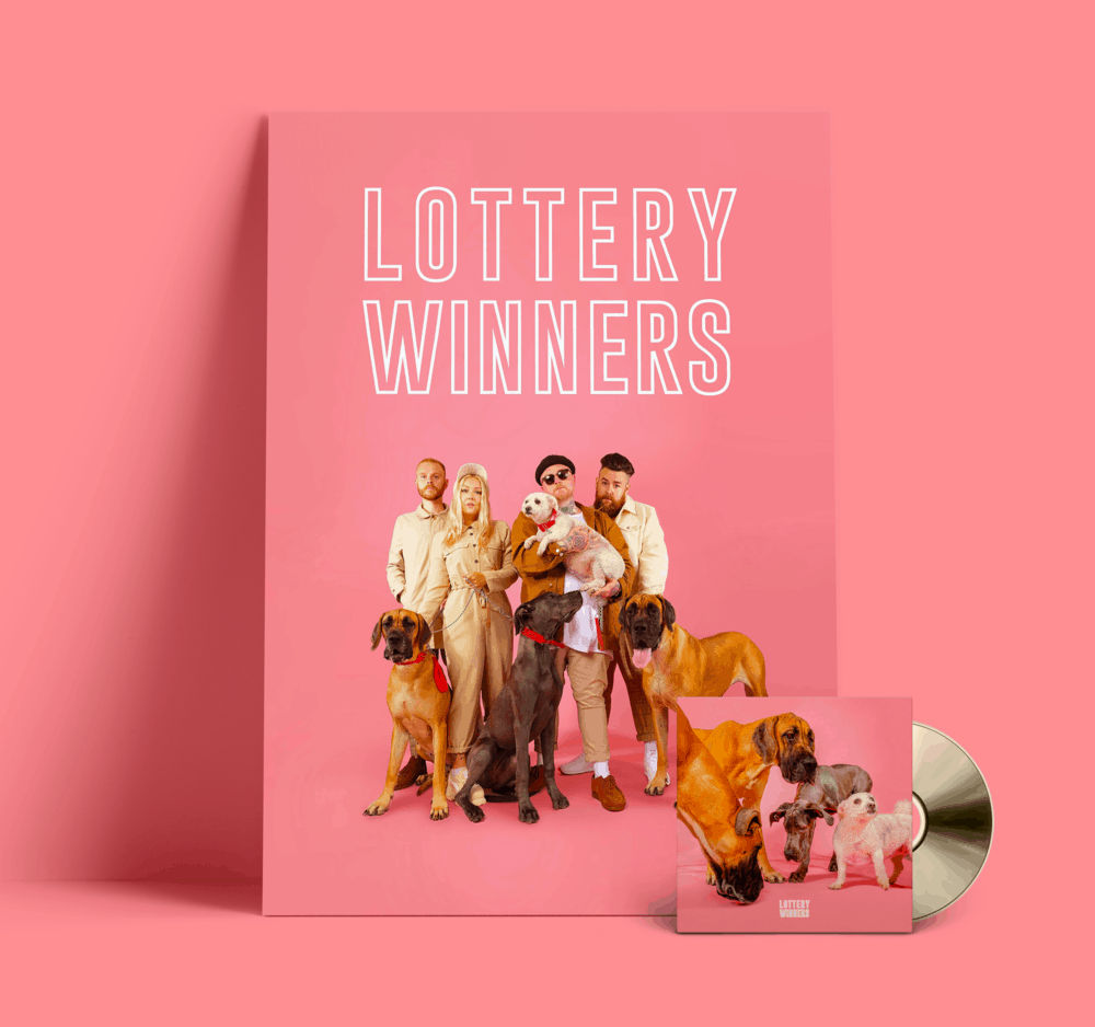 Buy Online The Lottery Winners - Lottery Winners Gold CD (Signed) + A3 Poster (Signed)