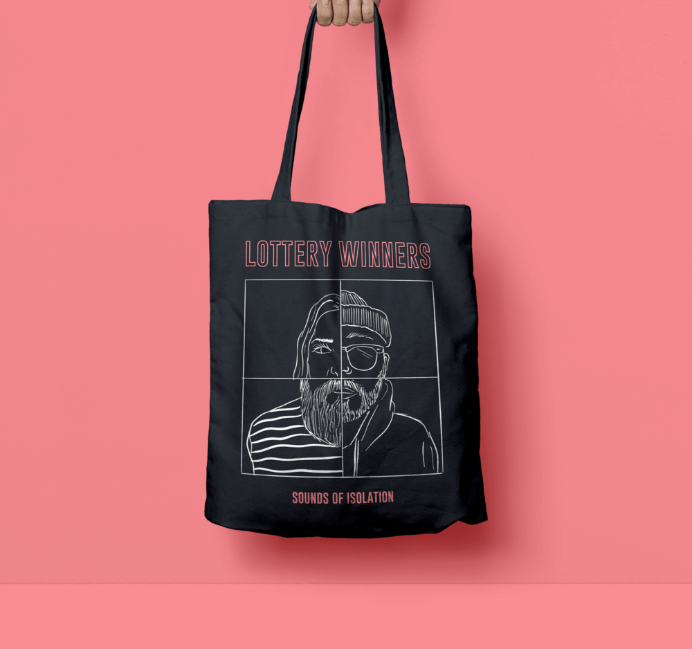 Buy Online The Lottery Winners - Sounds of Isolation Tote Bag
