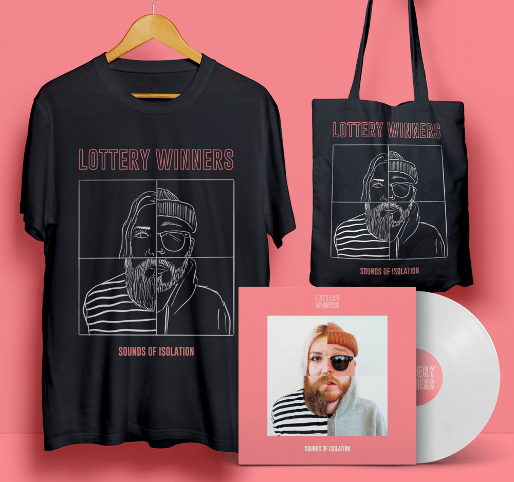 Buy Online The Lottery Winners - Sounds of Isolation T-Shirt + (Signed) Vinyl + Tote