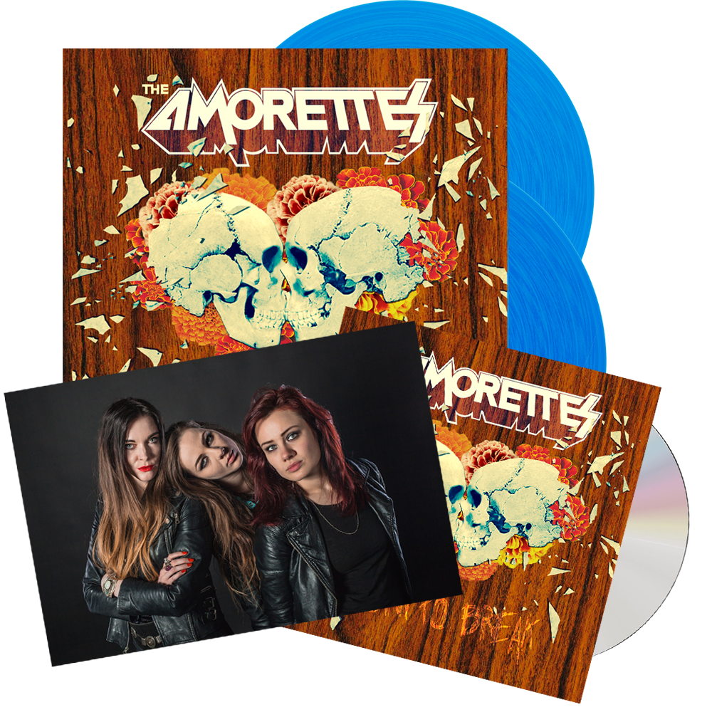 Buy Online The Amorettes - Born To Break Coloured Vinyl (Signed) + CD + Band Photo (Signed)