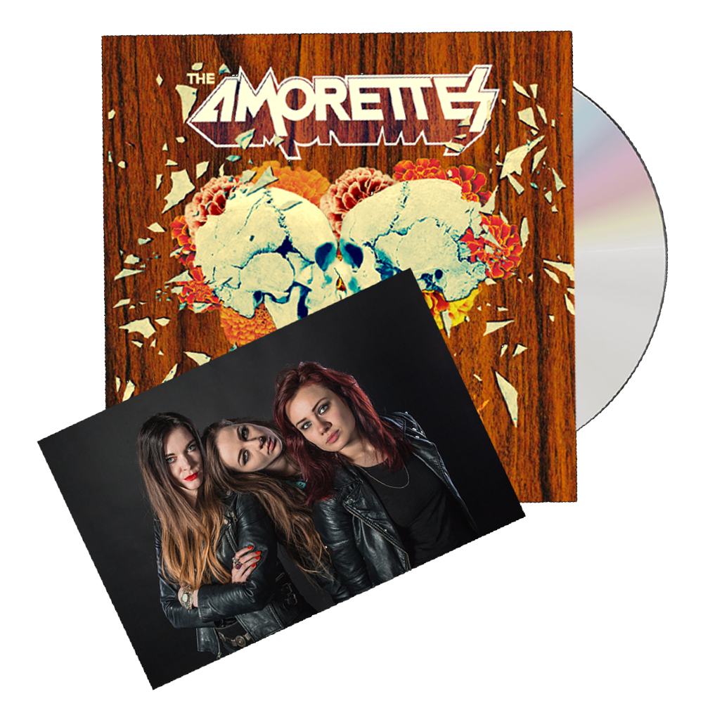 Buy Online The Amorettes - Born To Break CD (Includes Signed Band Photo)