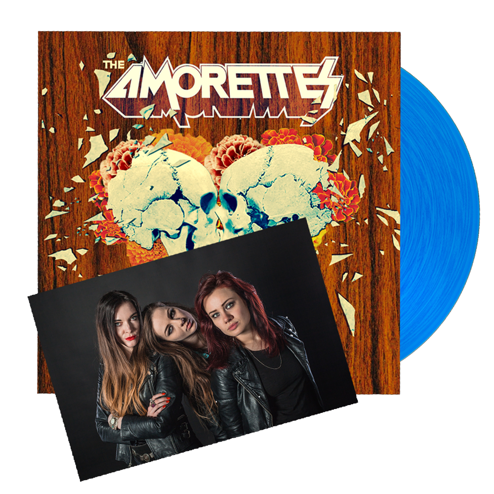 Buy Online The Amorettes - Born To Break Signed Coloured Vinyl (Includes Signed Band Photo)