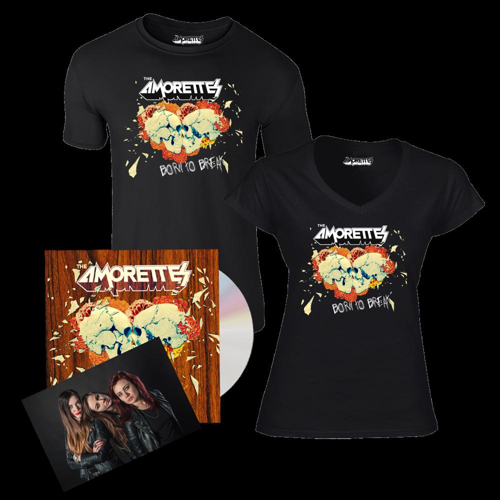 Buy Online The Amorettes - Born To Break CD Album + T-Shirt