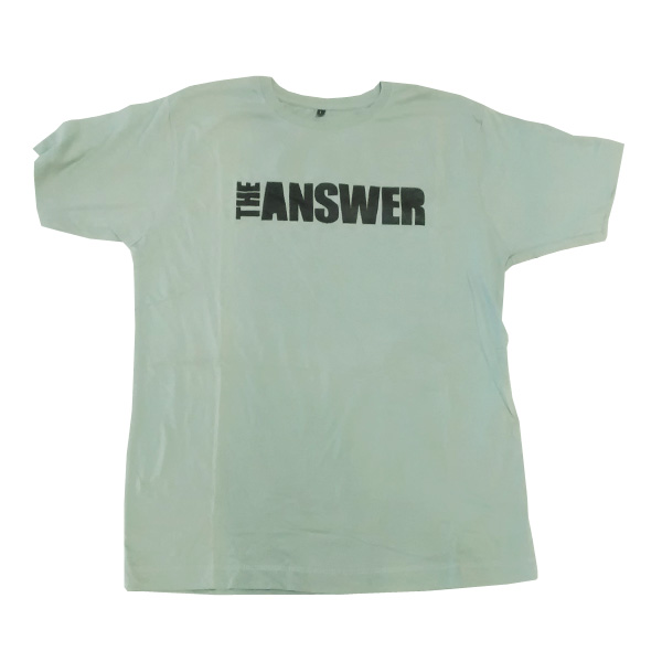 Buy Online The Answer - Green Grey Logo T-Shirt