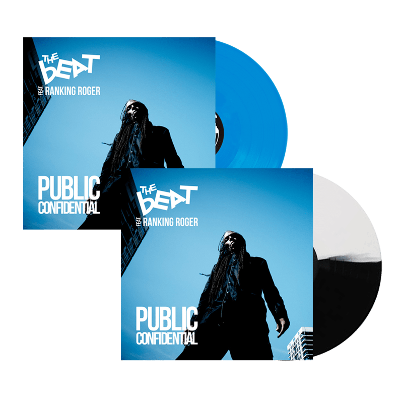 Buy Online The Beat - Public Confidential Black & White Vinyl + Blue Transparent Vinyl