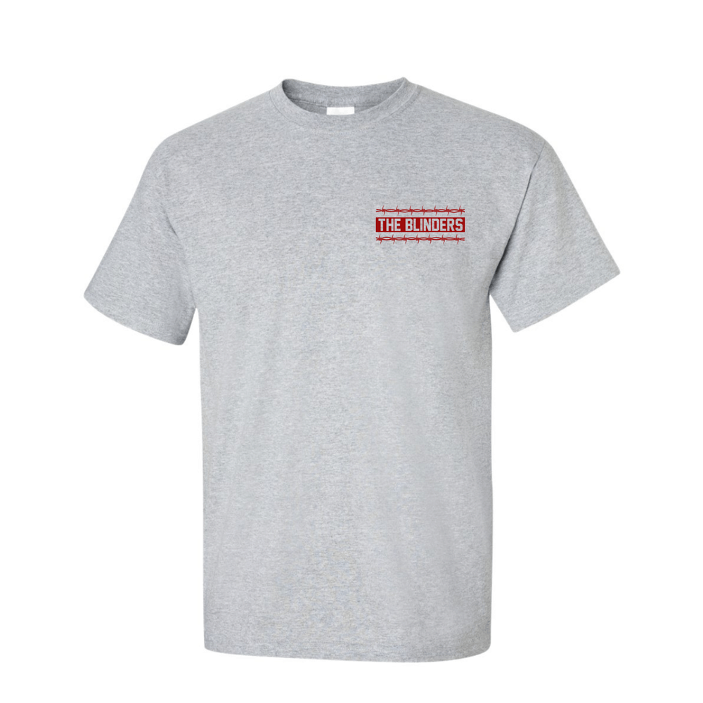 Buy Online The Blinders - Red Barbed Wire Grey T-Shirt