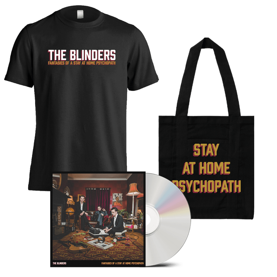 Buy Online The Blinders - Fantasies Of A Stay At Home Psychopath CD + T-Shirt + Tote Bag (Signed)