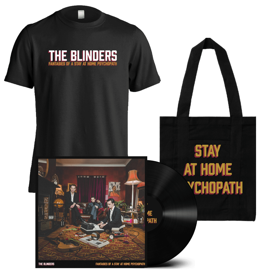 Buy Online The Blinders - Fantasies Of A Stay At Home Psychopath Vinyl + T-Shirt + Tote Bag (Signed)