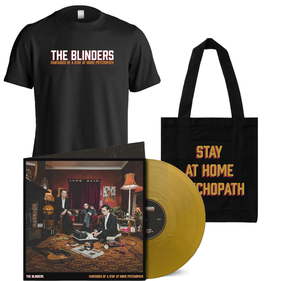 Fantasies Of A Stay At Home Psychopath Exclusive Gatefold Gold Vinyl + T-Shirt + Tote Bag (Signed)