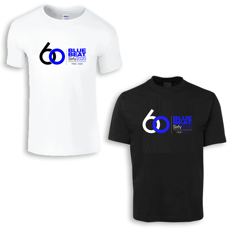 Buy Online The Blue Beat Label - The Blue Beat Label 60 Year T-Shirt
