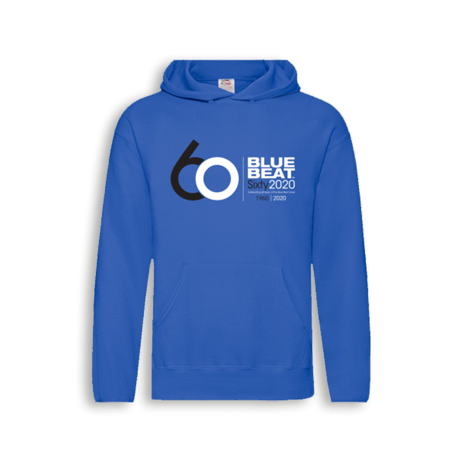 Buy Online The Blue Beat Label - The Blue Beat Label 60 Year Hoodie
