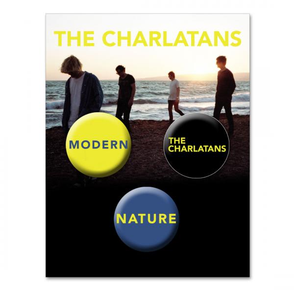 Buy Online The Charlatans - Badge Set (Set Of Three)