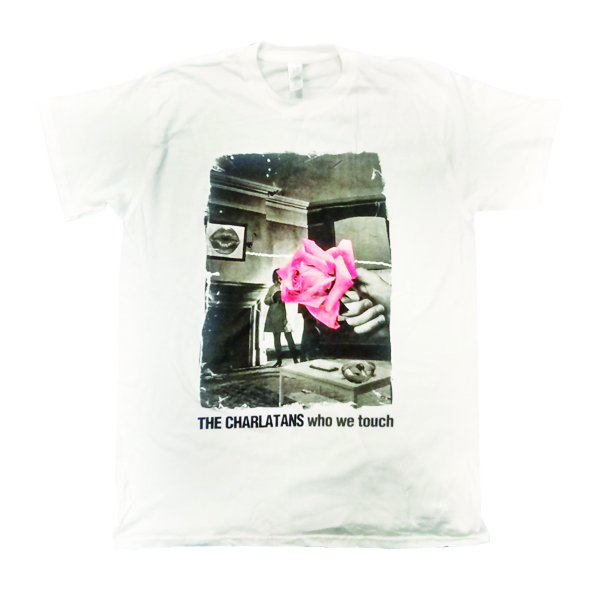 Mens White Faded Rose T-Shirt