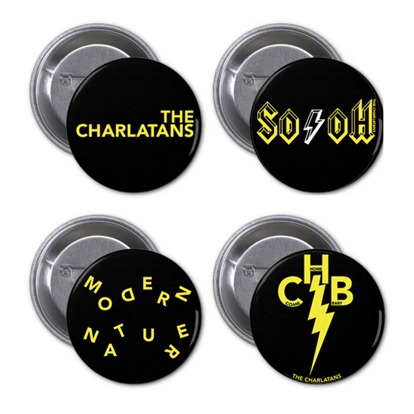 Buy Online The Charlatans - 2015 Badge Set