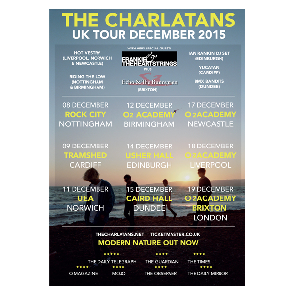 Buy Online The Charlatans - Tour Poster