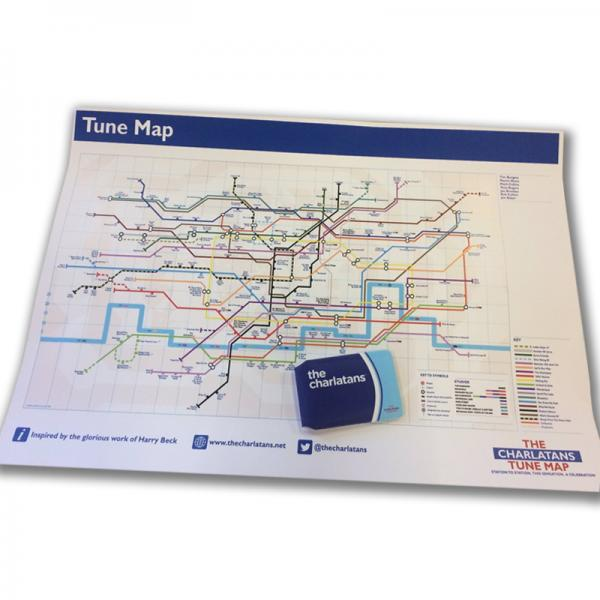 Buy Online The Charlatans - A2 'Tune Map', Fold Up Map plus Wallet