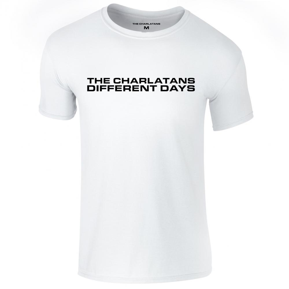 Different Days White Mens T-Shirt