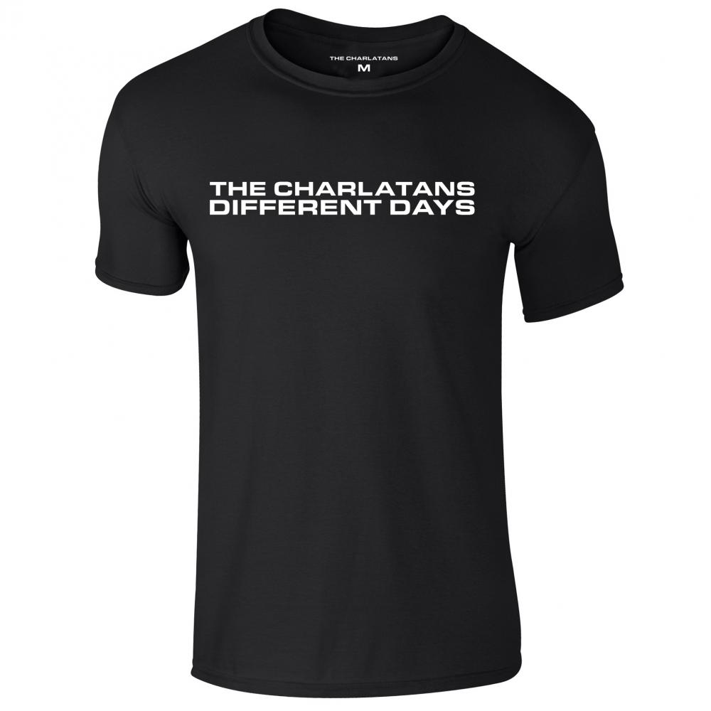 Different Days Black Mens T-Shirt