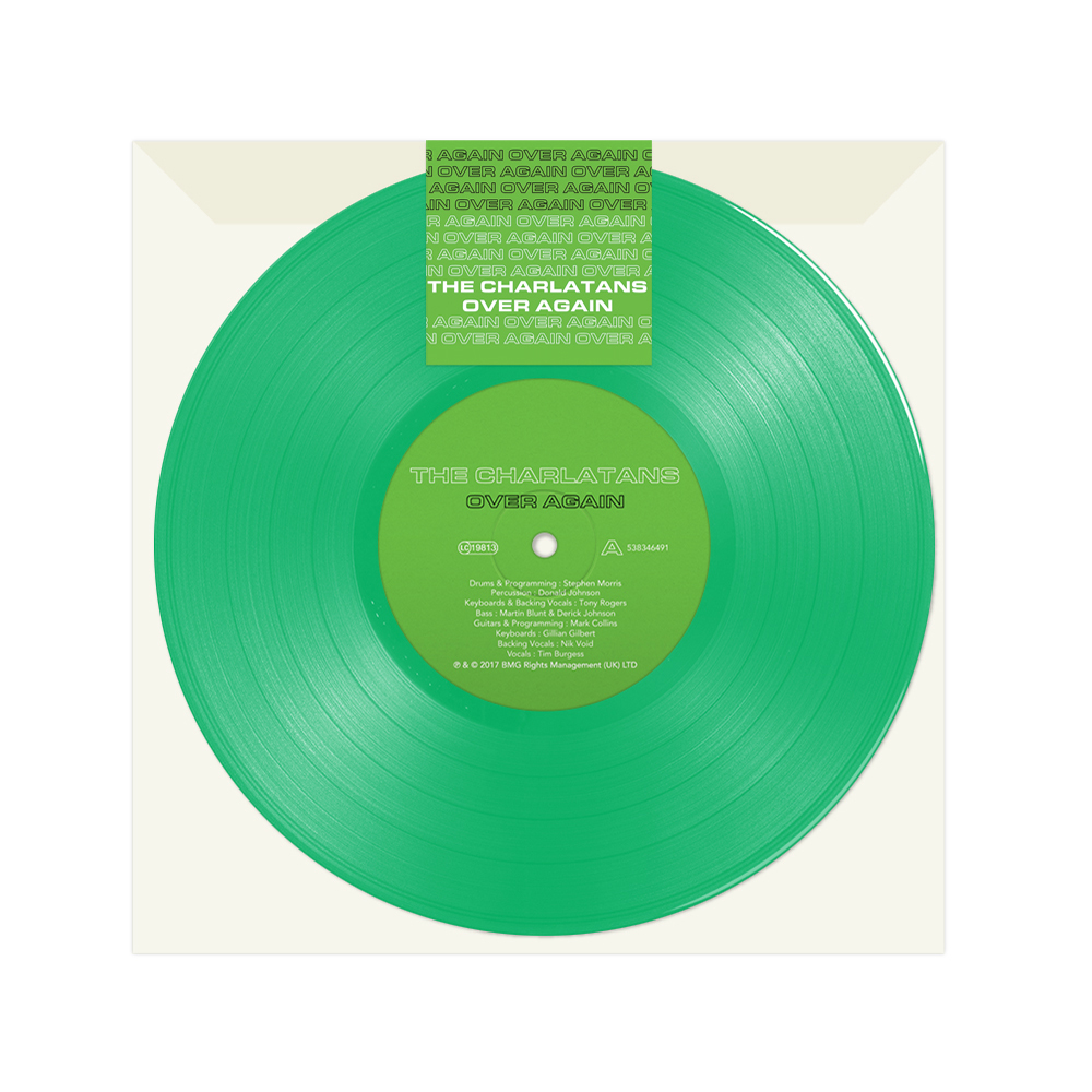 Buy Online The Charlatans - Over Again 7-Inch Vinyl (Limited Edition Green Vinyl)