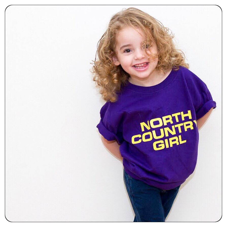 Buy Online The Charlatans - North Country Girls Purple Childrens T-Shirt