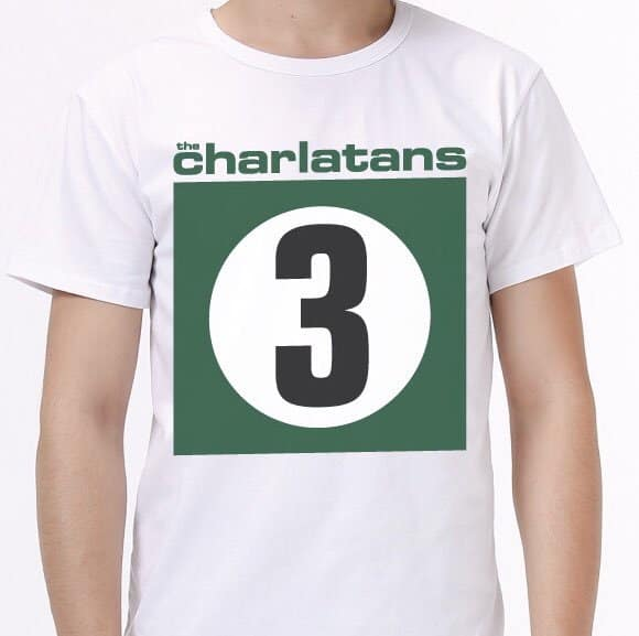 Buy Online The Charlatans - 3 Vintage T-Shirt