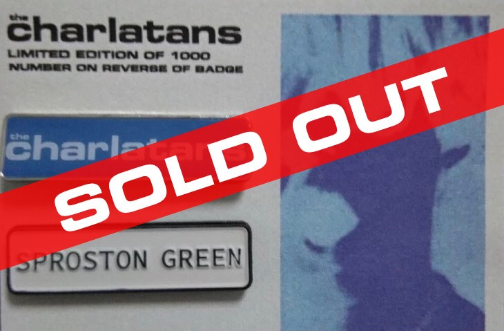 Buy Online The Charlatans - Sproston Green/The Charlatans Enamel Badge Set