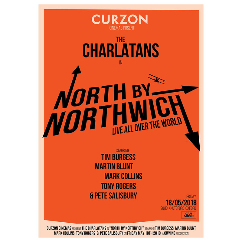 Buy Online The Charlatans - North By Northwhich Cinema Poster
