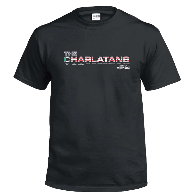 Buy Online The Charlatans - North American Tour T-Shirt