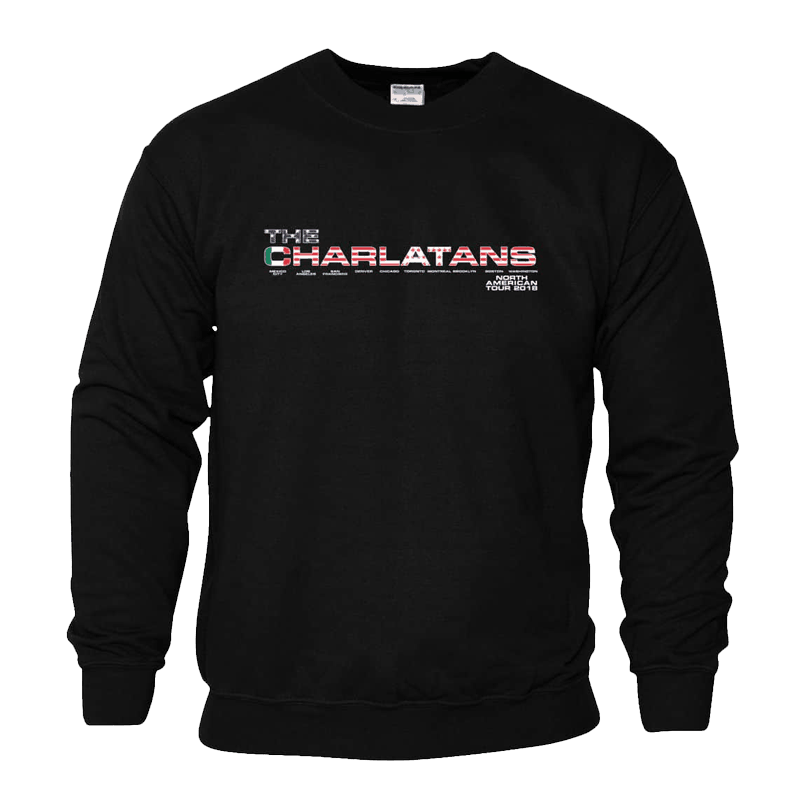 Buy Online The Charlatans - North American Tour Sweatshirt