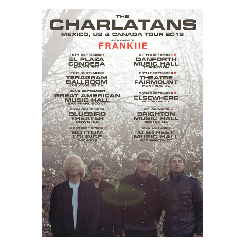 Buy Online The Charlatans - North American Tour Poster