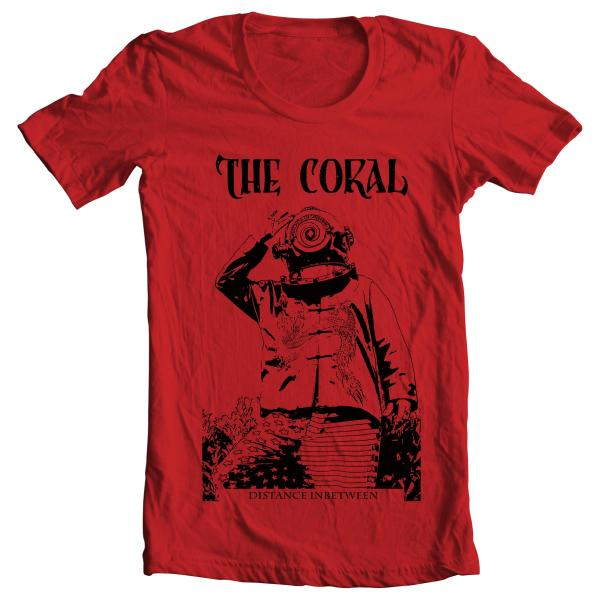 Buy Online The Coral - Deep Sea Diver Red T-Shirt