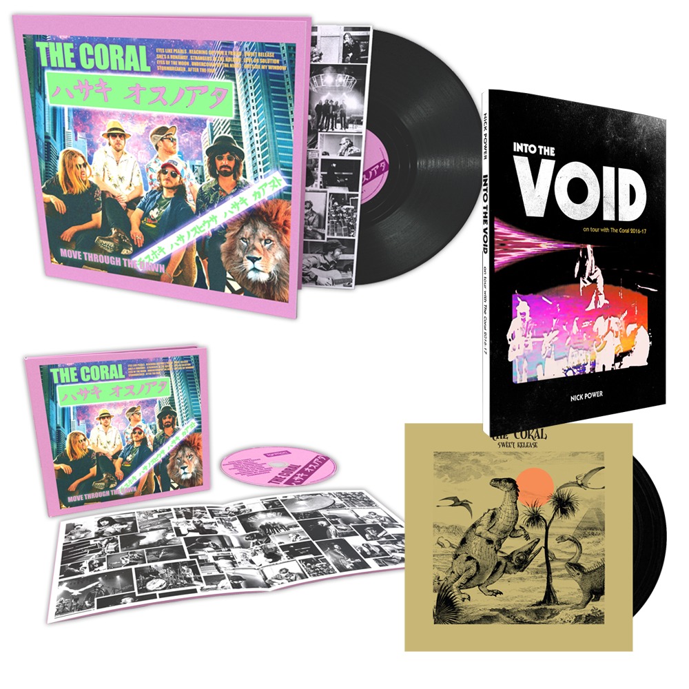 Buy Online The Coral - Move Through The Dawn CD (Signed) + Vinyl LP (Signed) + 7-Inch Vinyl (Signed) + Book (Signed by Nick Power)
