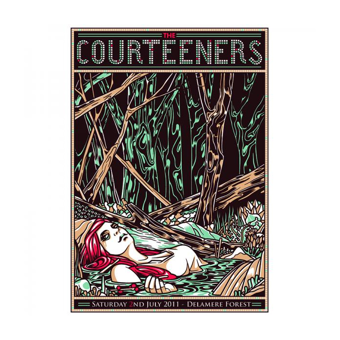 Buy Online Courteeners - Delamere Forest Print
