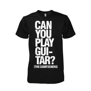 Buy Online Courteeners - Guitar Black T-Shirt