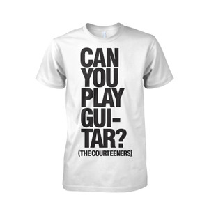 Buy Online Courteeners - Guitar White T-Shirt