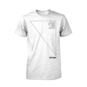 Buy Online Courteeners - Pinpoint Graphic White T-Shirt