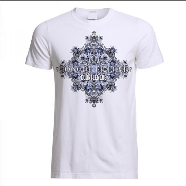 Buy Online Courteeners - Kaleidoscope White T-Shirt