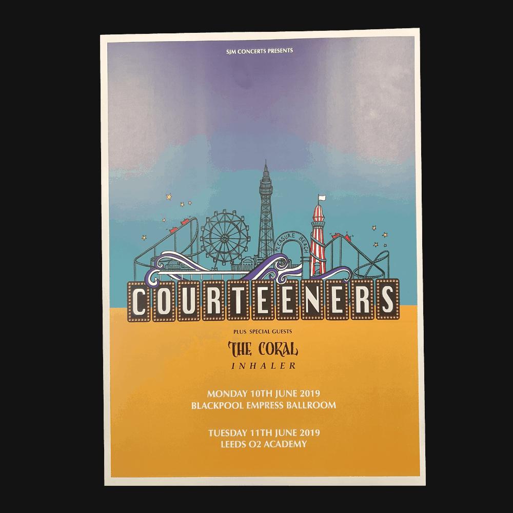 Buy Online Courteeners - Blackpool & Leeds Gig Poster Print