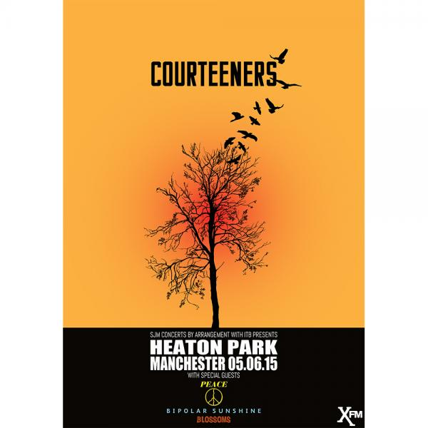 Buy Online Courteeners - Heaton Park Signed Limited Edition  A3 Art Print
