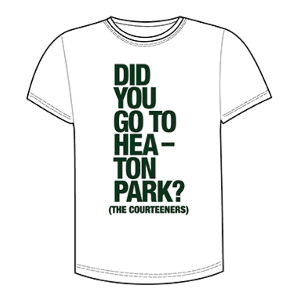 Buy Online Courteeners - Did You... Heaton Park White T-Shirt
