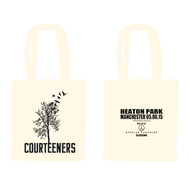Buy Online Courteeners - Natural Heaton Park Tote Bag