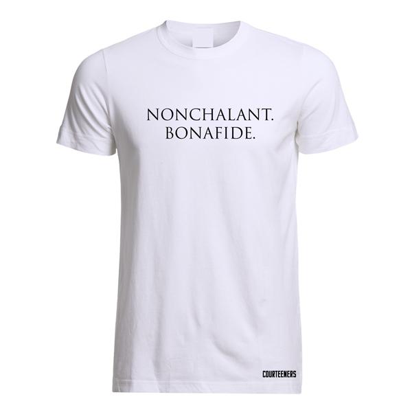 Buy Online Courteeners - Nonchalant Bonafide White T-Shirt