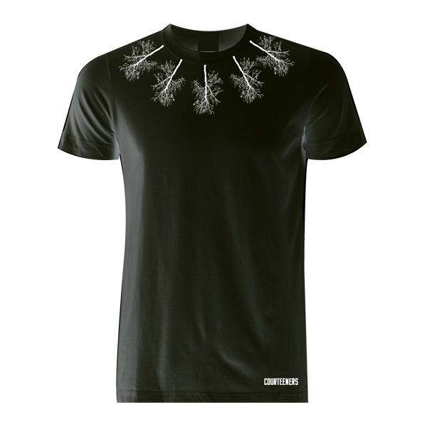 Buy Online Courteeners - Neckline Trees Black T-Shirt