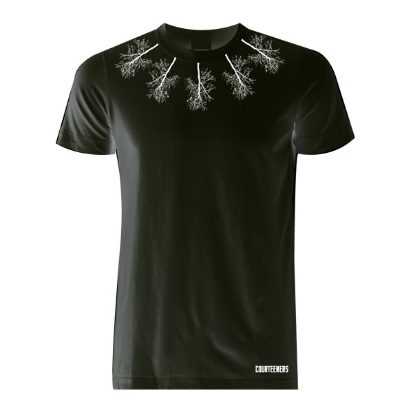 Buy Online Courteeners - Neckline Trees Black T-Shirt