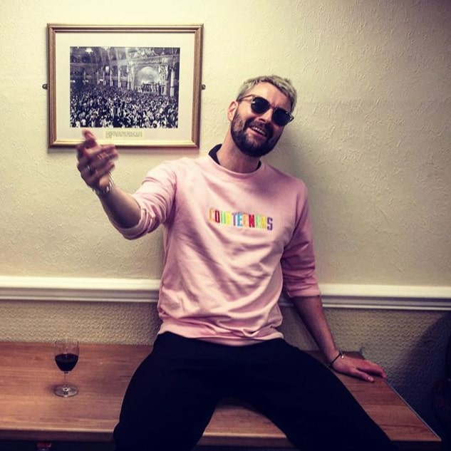 Buy Online Courteeners - Unisex Pastel Pink Sweatshirt With Multi-Coloured Embroidery