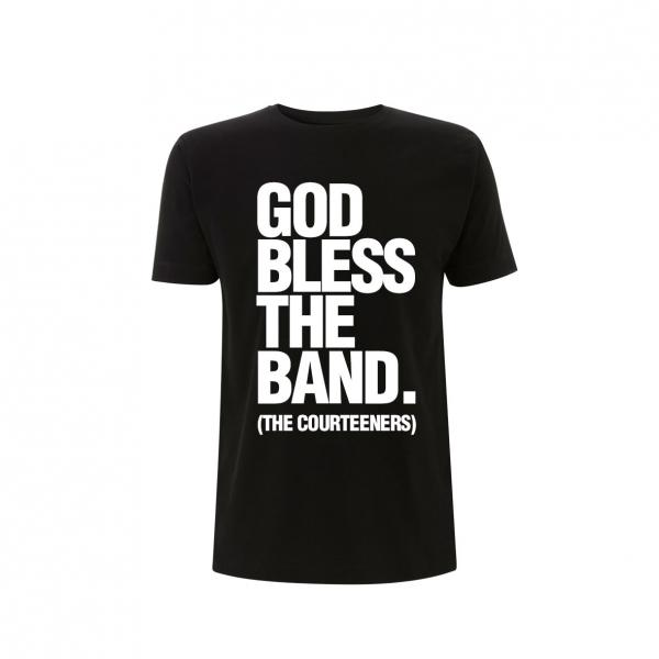 Buy Online Courteeners - God Bless The Band Black T-Shirt
