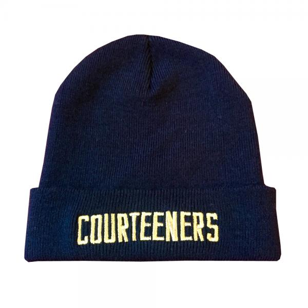 Buy Online Courteeners - Logo Navy Beanie With Gold Thread