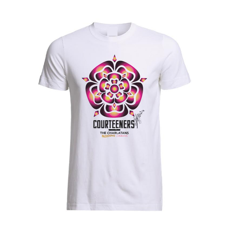 Buy Online Courteeners - Old Trafford 2017 Rose Event T-Shirt